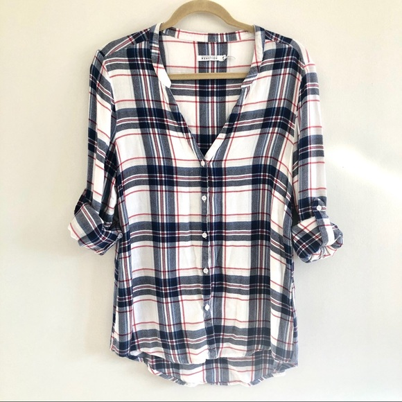 Kenneth Cole Reaction plaid too women's medium